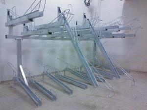 Bicycle parking frame